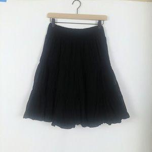 Anthro Edme & Esyllte black tiered full skirt